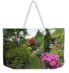 Cathy's Garden - A Little Slice Of England Weekender Tote Bag by Gill Billington