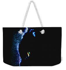 Weekender Tote Bag featuring the digital art Cat's Eye Abstract by Aliceann Carlton
