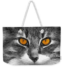 Cats Eyes Weekender Tote Bag by Ian Mitchell