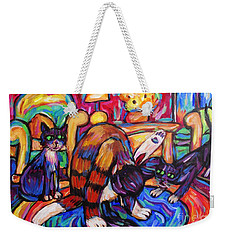 Cats In The Lounge Weekender Tote Bag