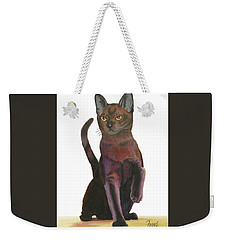 Weekender Tote Bag featuring the painting Cats Meow by Ferrel Cordle