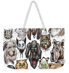 Cats N Dogs Weekender Tote Bag by Kevin Middleton