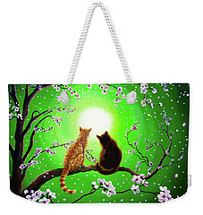 Cats On A Spring Night Weekender Tote Bag by Laura Iverson
