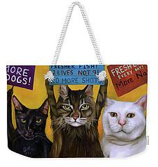 Cats On Strike 2 Weekender Tote Bag