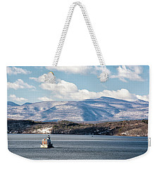 Catskill Mountains With Lighthouse Weekender Tote Bag
