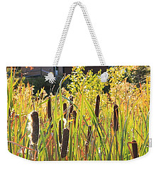 Cattails And Barn Weekender Tote Bag by Roupen  Baker