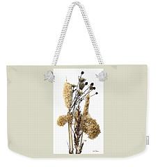Cattails And November Flowers II Weekender Tote Bag by Lise Winne