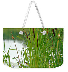 Cattails And Still Water Weekender Tote Bag