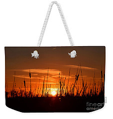 Cattails And Twilight Weekender Tote Bag