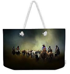 Cattle Drive At Dawn Weekender Tote Bag