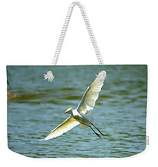 Cattle Egret Right Banking Turn - Digitalart Weekender Tote Bag
