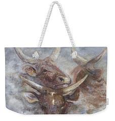 Cattle In The Mist Weekender Tote Bag