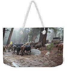 Cattle Moving Weekender Tote Bag