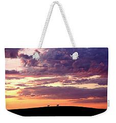 Cattle Ridge Sunset Weekender Tote Bag