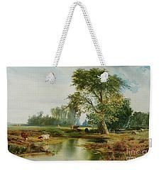 Cattle Watering Weekender Tote Bag by Thomas Moran