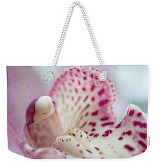 Weekender Tote Bag featuring the photograph Cattleya Orchid Abstract 1 by Jenny Rainbow