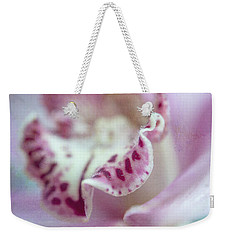 Weekender Tote Bag featuring the photograph Cattleya Orchid Abstract 2 by Jenny Rainbow