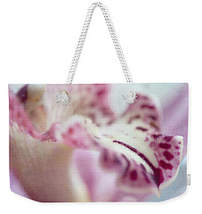 Weekender Tote Bag featuring the photograph Cattleya Orchid Abstract 4 by Jenny Rainbow