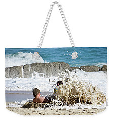 Weekender Tote Bag featuring the photograph Caught From Behind by Terri Waters