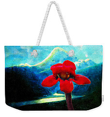 Caucasus Love Flower I Weekender Tote Bag by Anastasia Savage Ealy