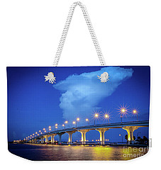 Causeway And Cloud Weekender Tote Bag