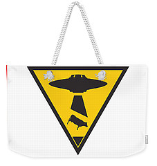 Caution Ufos Weekender Tote Bag by Pixel Chimp