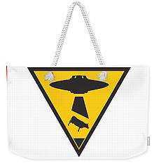 Caution Ufos Weekender Tote Bag by Pixel Chimp