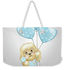 Weekender Tote Bag featuring the painting Cavapoo Toby Baby by Catia Lee