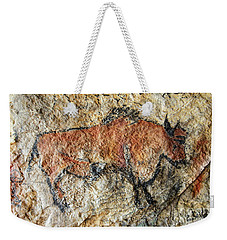 Cave Painting In Prehistoric Style Weekender Tote Bag by Michal Boubin