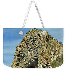 Weekender Tote Bag featuring the photograph Cave Rock At Tahoe by Benanne Stiens
