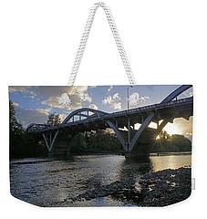 Caveman Bridge At Sunset Weekender Tote Bag