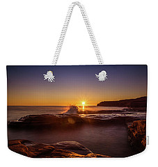 Cavendish Waves At Sunrise Weekender Tote Bag