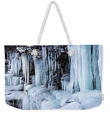 Weekender Tote Bag featuring the photograph Caves Of Ice by Alex Lapidus