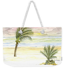 Weekender Tote Bag featuring the digital art Cayman Beach by Darren Cannell