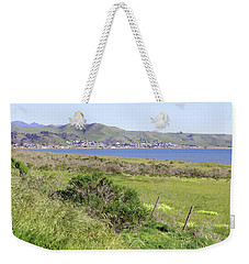 Weekender Tote Bag featuring the photograph Cayucos Coastline - California by Art Block Collections