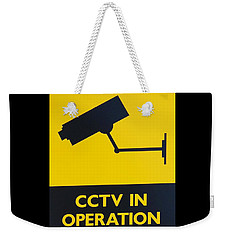 Cctv Warning Sign Weekender Tote Bag