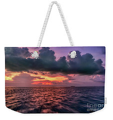 Weekender Tote Bag featuring the photograph Cebu Straits Sunset by Adrian Evans