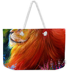 Weekender Tote Bag featuring the painting Cecil  by Patrice Torrillo