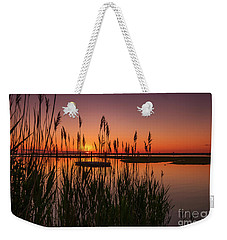 Cedar Beach Sunset In The Reeds Weekender Tote Bag