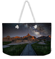 Weekender Tote Bag featuring the photograph Cedar Pass Milky Way by Darren White