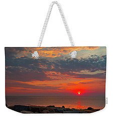 Cedar Point Sunrise Weekender Tote Bag