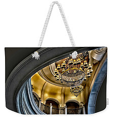Ceiling And Chandelier In Bellagio Weekender Tote Bag
