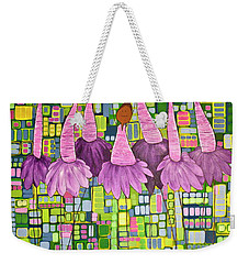 Weekender Tote Bag featuring the painting Celebrate by Donna Howard