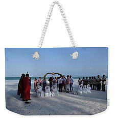 Celebrate Marriage On The Beach Weekender Tote Bag