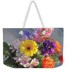 Weekender Tote Bag featuring the photograph Celebrate With A Bright Bouquet by Nancy Lee Moran