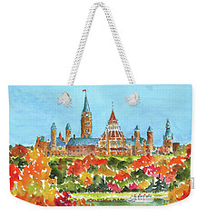 Celebrating Canada 150 Caps 20 Weekender Tote Bag