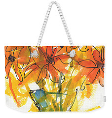 Celebration Of Sunflowers Watercolor Painting By Kmcelwaine Weekender Tote Bag