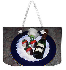 Weekender Tote Bag featuring the photograph Celebration Plate by Sally Weigand