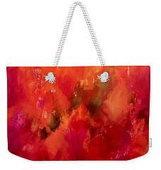 Celebrations Wedding Orange Abstract  Weekender Tote Bag