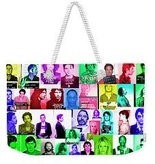 Celebrity Mugshots Weekender Tote Bag by Jon Neidert